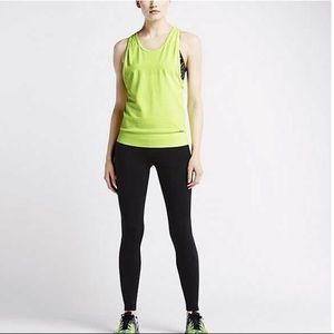 Nike dri fit luxe knit tank in volt / neon yellow